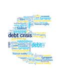 DEBT CRISIS Tag Cloud (eurozone euro symbol recession finance)