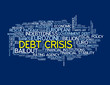 DEBT CRISIS Tag Cloud (financial eurozone euro global economy)