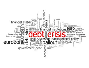DEBT CRISIS Tag Cloud (eurozone euro fiscal recession europe)
