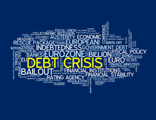 DEBT CRISIS Tag Cloud (financial eurozone euro global economy)