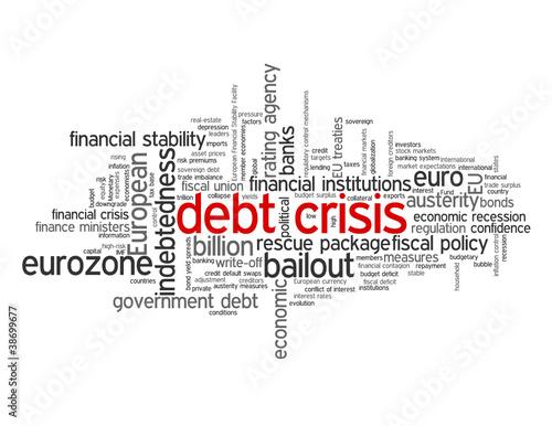 DEBT CRISIS Tag Cloud (eurozone euro fiscal recession europe)