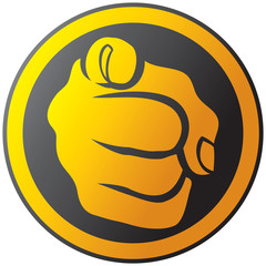 Hand pointing button