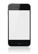 Leinwanddruck Bild - Smart Phone With Blank Screen Isolated