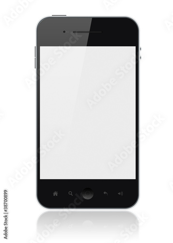 Smart Phone With Blank Screen Isolated - 38700899
