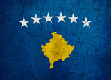 Grunge Kosovo flag poster