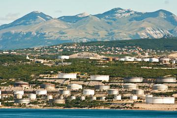 the refinery near Rijeka