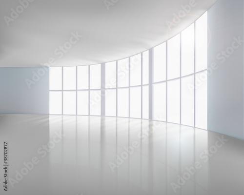 Puste białe wnętrze. Ilustracji wektorowych.