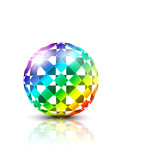 colorful 3d ball on white background