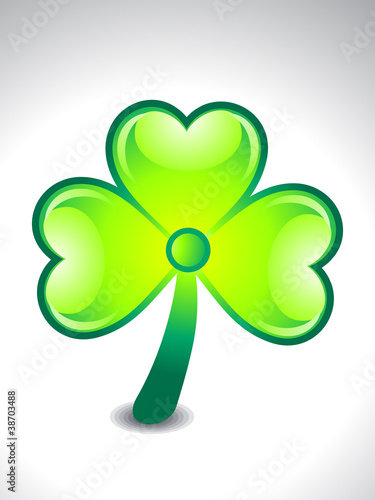 abstract green clover