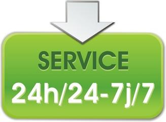 bouton service 24h/22-7j/7