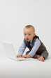 Business Baby on Computer