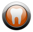"Orange Metallic Orb Button ""Dental Medicine / Dentistry"""