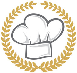 chef hat (emblem, symbol, sign)