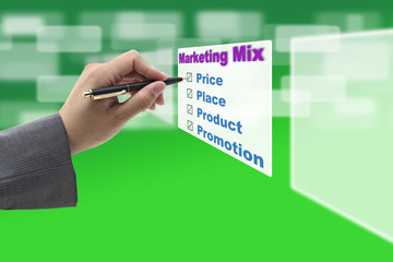 Business Marketing mix Concept