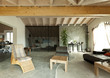 interior new loft, ethnic furniture, livingroom