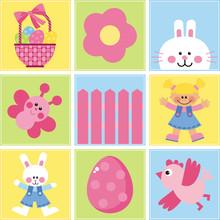 Happy Easter! Zestaw obrazów wektorowych na temat Wielkanocy