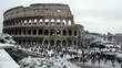 Colosseum 02/04/2012, snow in Rome
