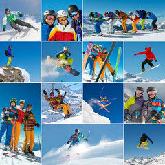 Collage Ski/Snowboard