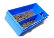 nail in blue plastic box