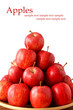 Nice red apples with space for text