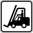 Gabelstapler Flurförderzeug Schild Zeichen Symbol