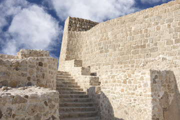 stairs for the second level in Bahrain fort
