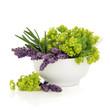 Lavender and Ladies Mantle Flowers