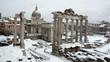 Roman Forum, February 4th, 2012, snow in Rome
