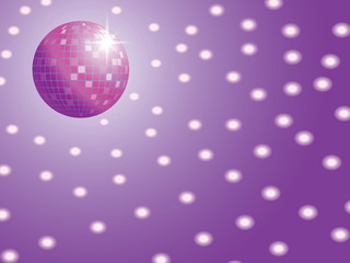disco ball with lights vector illustration