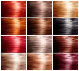 Hair Colors Set. Tints