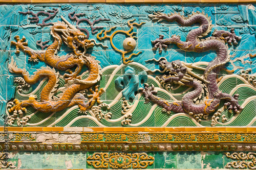 Ancient dragon(Long) relief sculpture