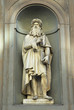 Florence Leonardo da Vinci statue.