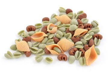 Tri-color pasta shells