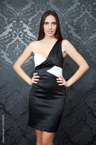 beautiful woman in elegant dress