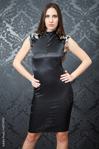 fashion woman in evening dress