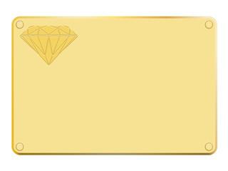 Plaque en or avec symbole diamant