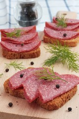 Salami on Wholemeal Bread
