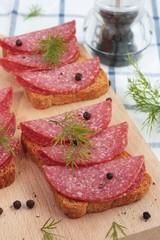 Salami appetizer