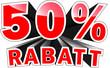 3D Text: 50 % Rabatt