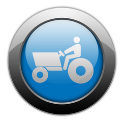 "Metallic Orb Button ""Tractor"""
