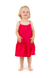 Little girl  in red dress