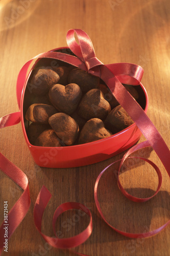 heart chocolate truffles
