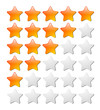 rating stars, web