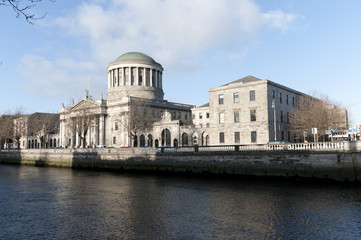 The Four  Courts in Dublin City Ireland