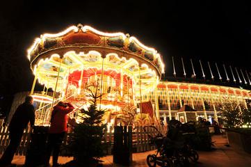 Carousel in Tivoli Gardens, Copenhagen