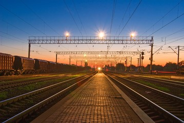 railway station at the morning