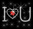 Diamond Words I Love You