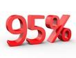 3d Schrift 95% rot