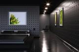 Modernistic Black Bedroom poster