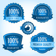 Blue satisfaction guarantee label collection vol.1